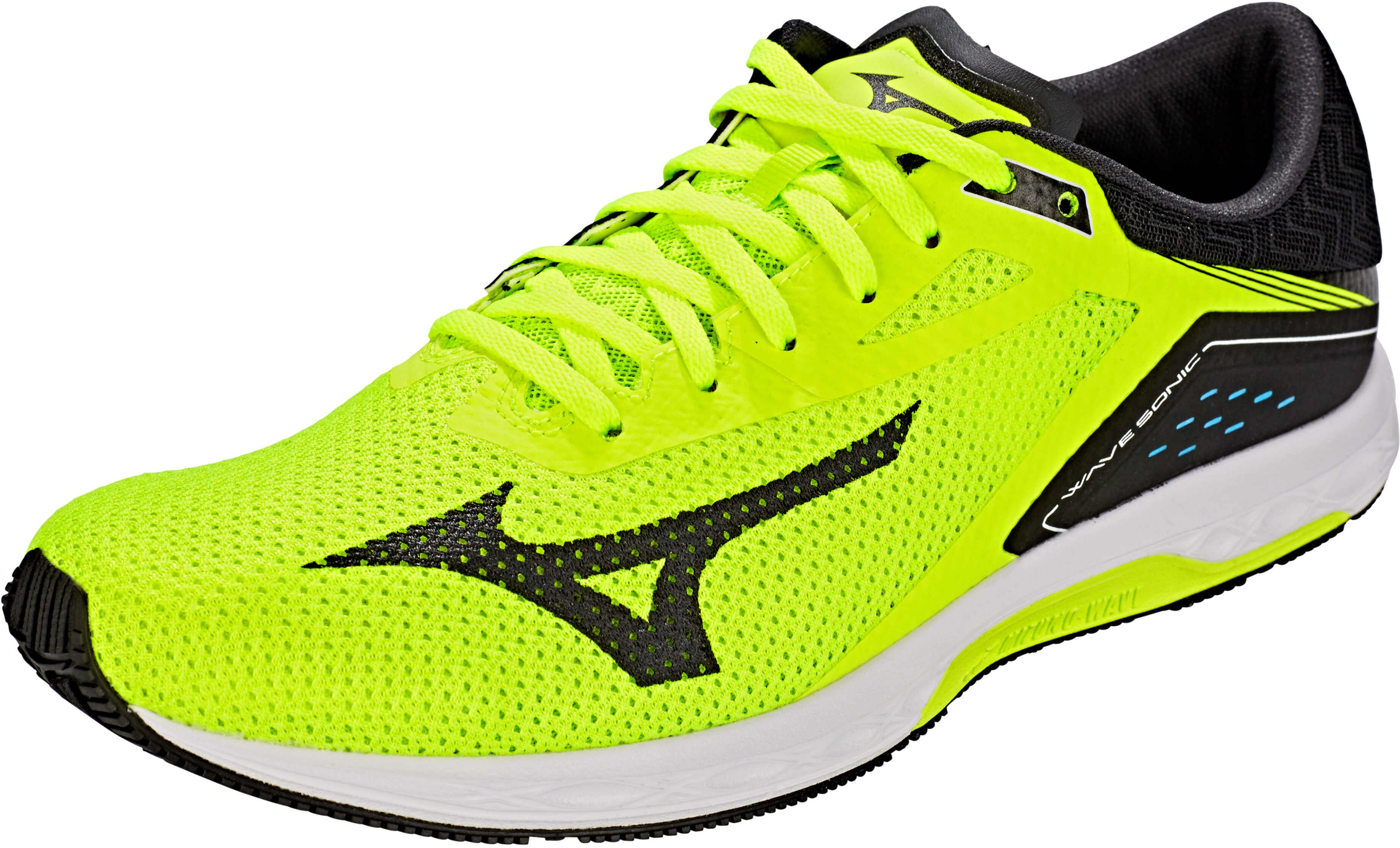▷ Mizuno Wave Sonic Running Shoes Men safety yellow black white ... efe36cc6cad